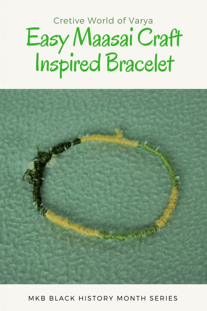Easy Maasai Craft Inspired Bracelet